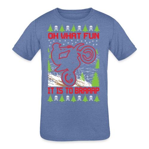 Ugly Christmas Dirt Bike - Kids' Tri-Blend T-Shirt