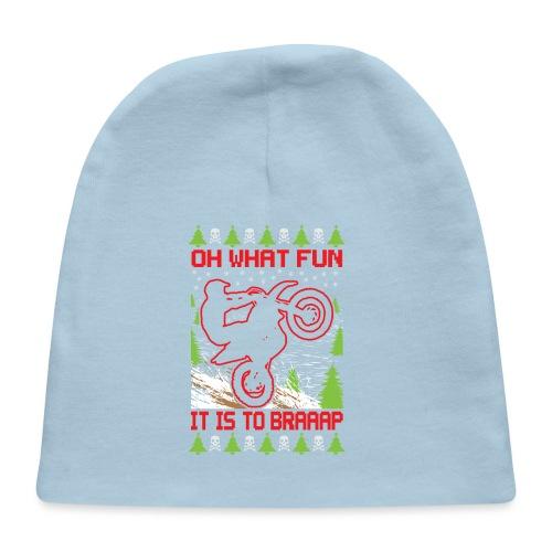 Ugly Christmas Dirt Bike - Baby Cap