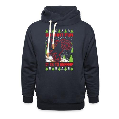 Ugly Christmas Dirt Bike - Shawl Collar Hoodie