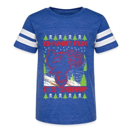 Ugly Christmas Dirt Bike - Kid's Vintage Sport T-Shirt