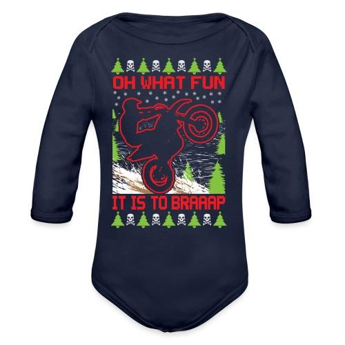 Ugly Christmas Dirt Bike - Organic Long Sleeve Baby Bodysuit
