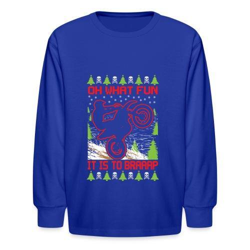 Ugly Christmas Dirt Bike - Kids' Long Sleeve T-Shirt