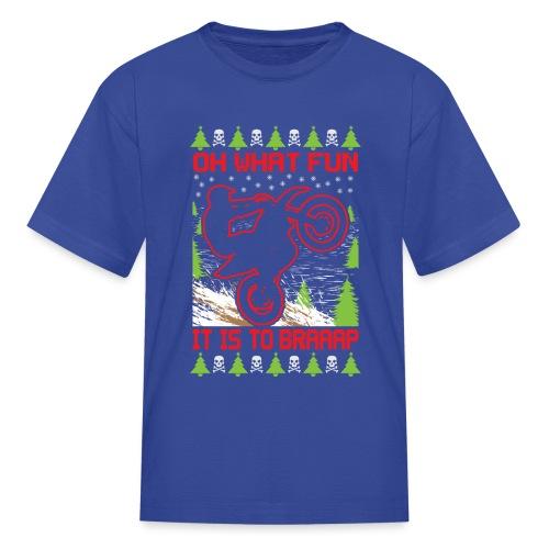 Ugly Christmas Dirt Bike - Kids' T-Shirt