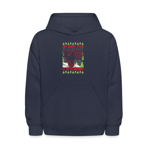 Ugly Christmas Dirt Bike - Kids' Hoodie