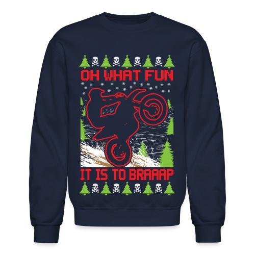 Ugly Christmas Dirt Bike - Crewneck Sweatshirt
