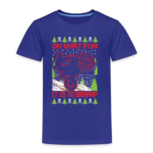 Ugly Christmas Dirt Bike - Toddler Premium T-Shirt