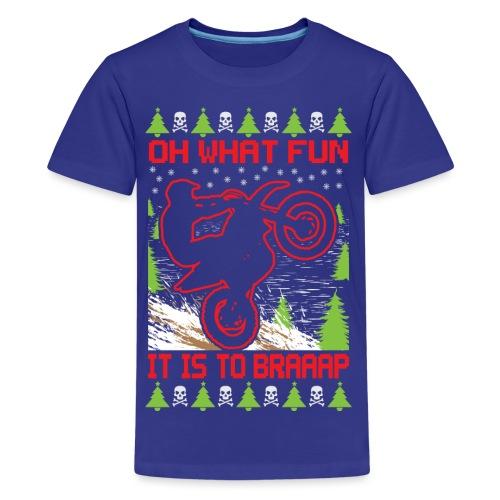 Ugly Christmas Dirt Bike - Kids' Premium T-Shirt