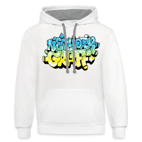 LAWE/SUB53 Design for New York Graffiti Color Logo - Contrast Hoodie