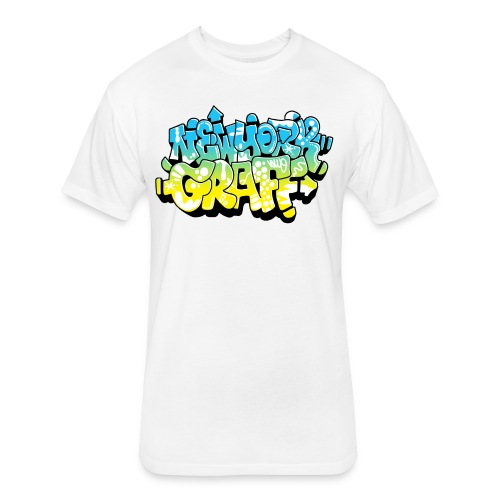 LAWE/SUB53 Design for New York Graffiti Color Logo - Fitted Cotton/Poly T-Shirt by Next Level