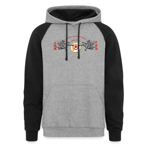 Hilltop Dojo Hoodie (red logo) - Colorblock Hoodie