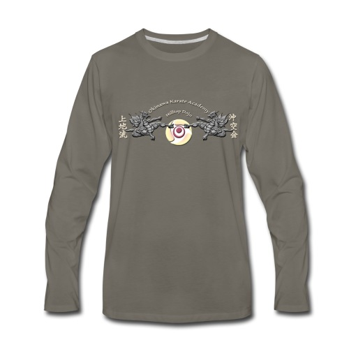 Hilltop Dojo Hoodie (gray logo) - Men's Premium Long Sleeve T-Shirt