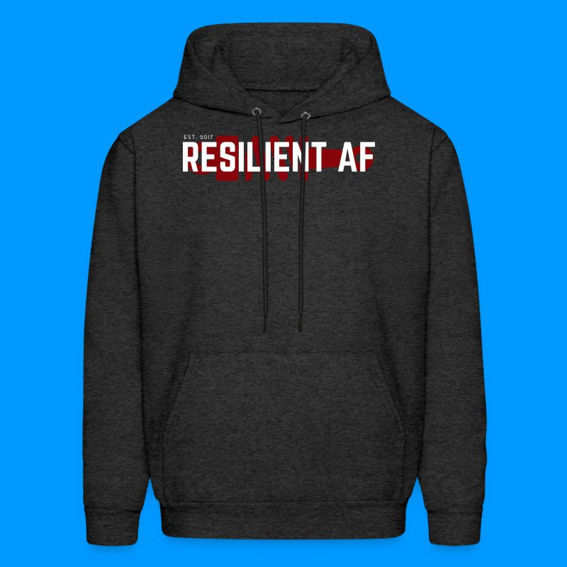 RESILIENT WHITE with red - Men's Hoodie