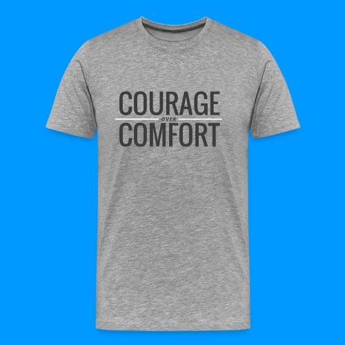 COURAGEcomfort white larg - Men's Premium T-Shirt