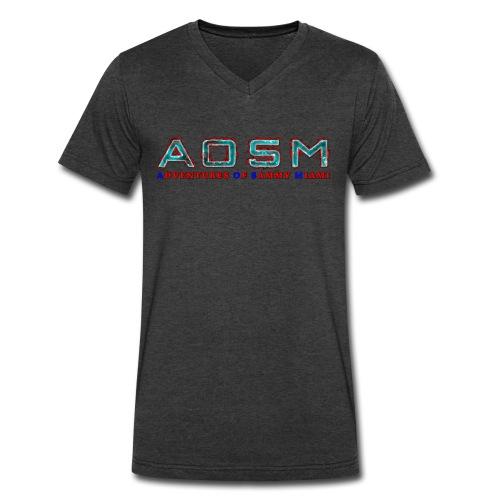 NEW AOSM Tye-Dye - Men's V-Neck T-Shirt by Canvas