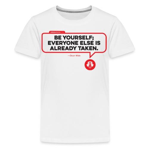 Oscar Wilde Quote - Kids' Premium T-Shirt