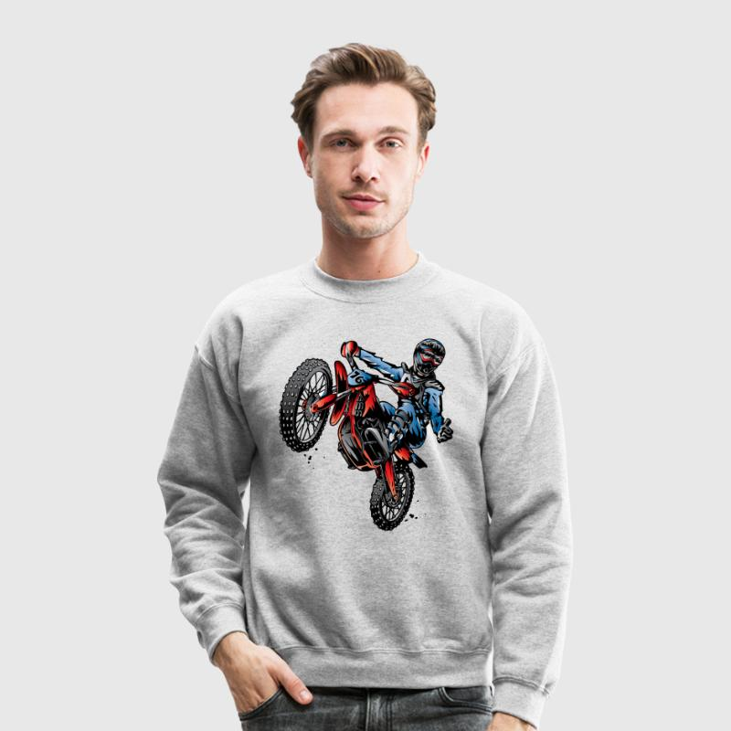 Motocross Dirt Bike Stunt Rider Long Sleeve Shirts - Crewneck Sweatshirt