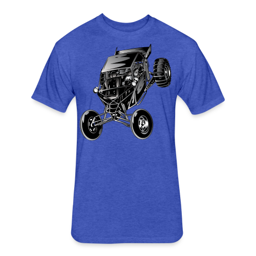 Dune Buggy Show Off - Fitted Cotton/Poly T-Shirt by Next Level