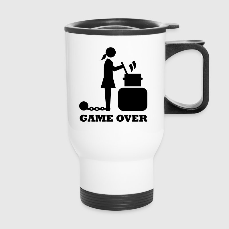 game over cooking woman bachelorette bachelor   Accessories - Travel Mug