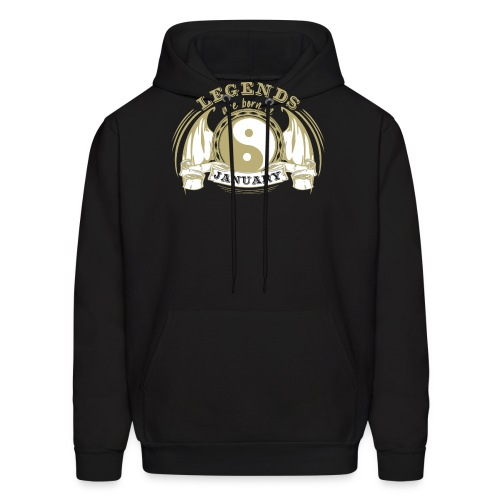 Legends are born in January - Men's Hoodie