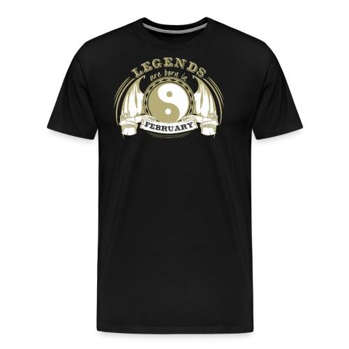 Legends are born in February - Men's Premium T-Shirt