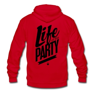 Life of the Party - Crewneck - Unisex Fleece Zip Hoodie by American Apparel