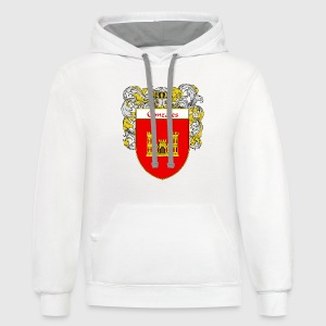 Gonzales Coat of Arms/Family Crest - Contrast Hoodie