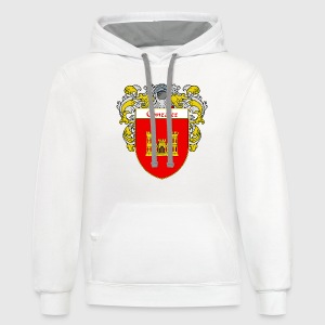 Gonzalez Coat of Arms/Family Crest - Contrast Hoodie
