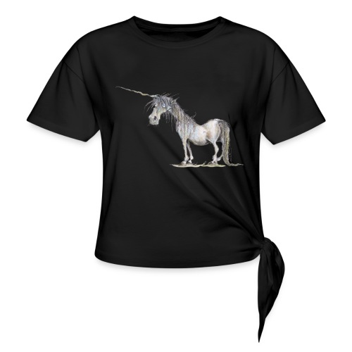 Last Unicorn - Women's Knotted T-Shirt