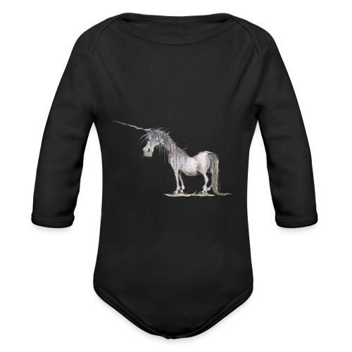 Last Unicorn - Organic Long Sleeve Baby Bodysuit