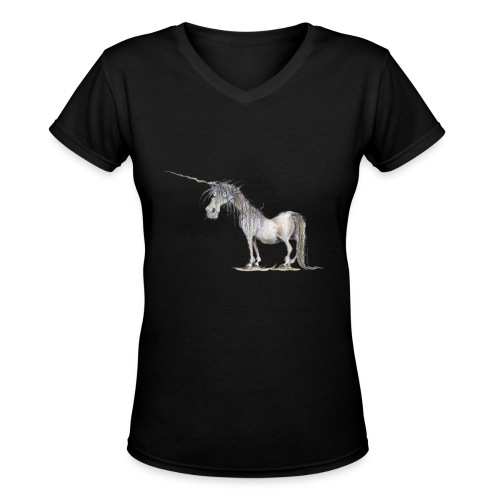 Last Unicorn - Women's V-Neck T-Shirt