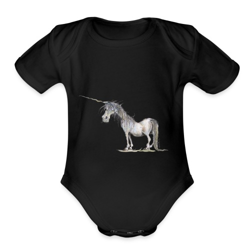 Last Unicorn - Organic Short Sleeve Baby Bodysuit
