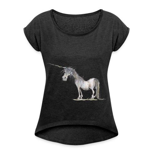 Last Unicorn - Women's Roll Cuff T-Shirt