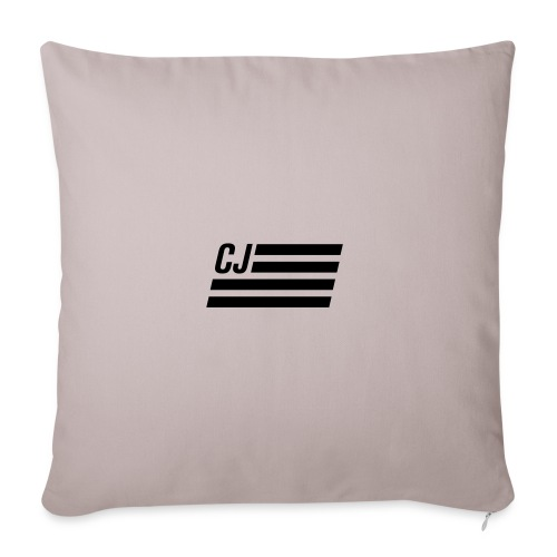 "CJ flag - Throw Pillow Cover 18"" x 18"""
