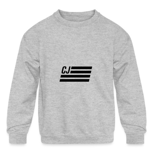 CJ flag - Kids' Crewneck Sweatshirt