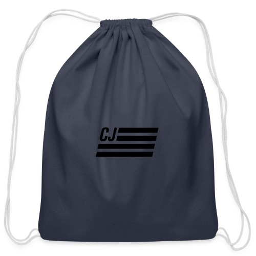 CJ flag - Cotton Drawstring Bag
