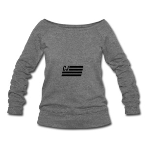 CJ flag - Women's Wideneck Sweatshirt