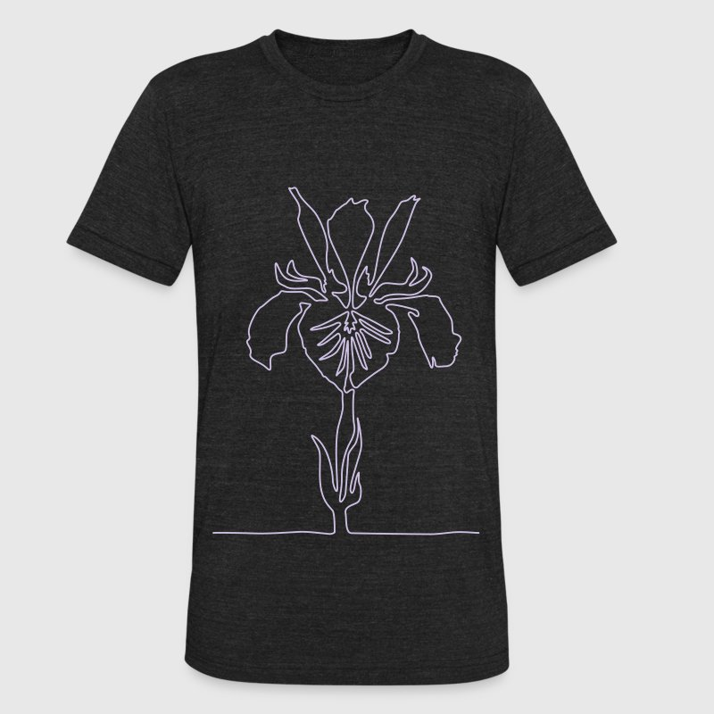 Iris T-Shirts - Unisex Tri-Blend T-Shirt by American Apparel