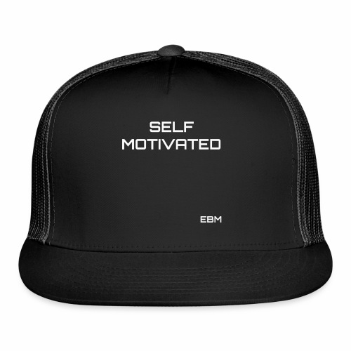 Self-Motivated Black Male Empowerment Slogan Quotes T-shirt Clothing by Stephanie Lahart   Empowered Black Male Shirts   Motivational Tees for African American Males - Trucker Cap
