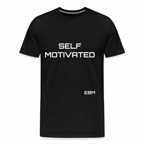 Self-Motivated Black Males Black Men's Slogan T-shirt Clothing by Stephanie Lahart. - Men's Premium T-Shirt