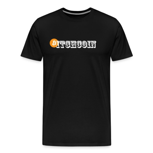 Bitchcoin white T-Shirts - Men's Premium T-Shirt