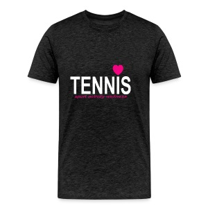 Tennis white sign - Men's Premium T-Shirt