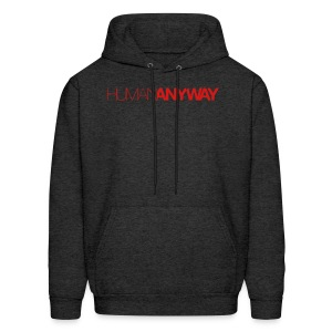 Human Anyway with Red Logo - Men's Hoodie