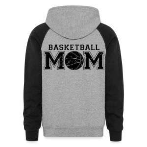 Basketball Mom game day shirt - Colorblock Hoodie