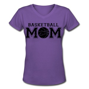 Basketball Mom game day shirt - Women's V-Neck T-Shirt