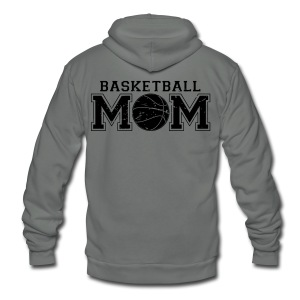 Basketball Mom game day shirt - Unisex Fleece Zip Hoodie