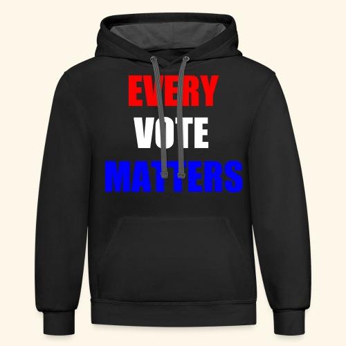 Every Vote Matters - Contrast Hoodie
