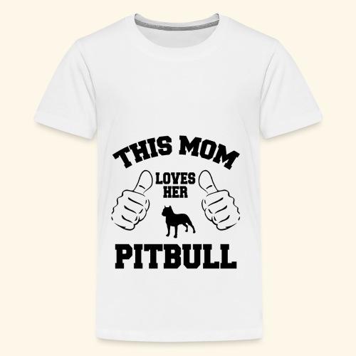 this mom loves her pitbull - Kids' Premium T-Shirt