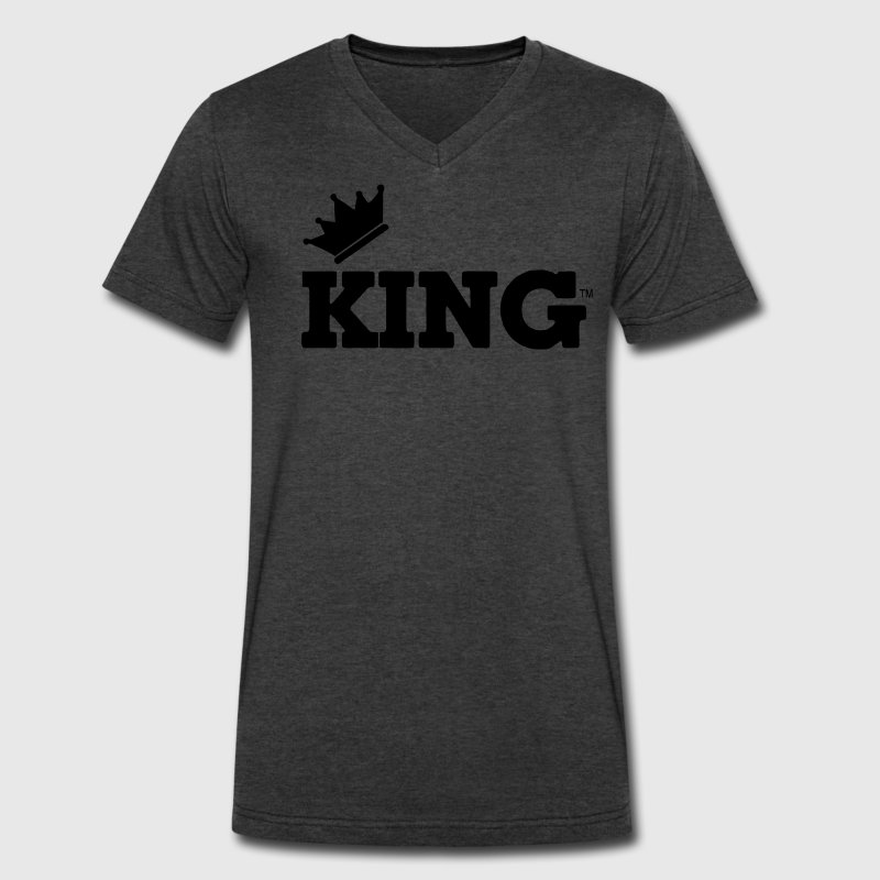 KING T-Shirts - Men's V-Neck T-Shirt by Canvas