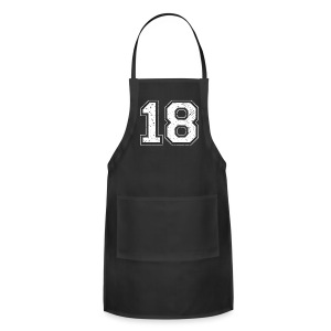class of 18 game day fan sport shirt - Adjustable Apron