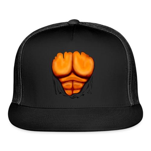 Ripped Muscles Orange, six pack, chest T-shirt - Trucker Cap